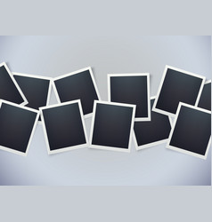 retro photo frame background sweet memories vector image