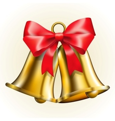 Bells with bow vector image vector image