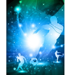 Shiny abstract soccer background vector image vector image