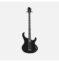 Silhouet of bass guitar EPS 10 vector image