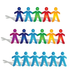 Teamwork groups of people vector image vector image