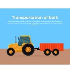Transportation of Bulk Banner Design vector image