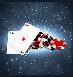 two aces with chips vector image