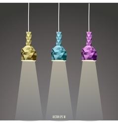 Abstract Lamp set vector image vector image