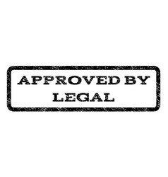 approved by legal watermark stamp vector image