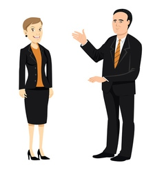 businessman businesswoman older vector image