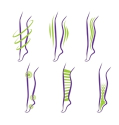 Legs Problems and treatment vector image