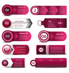 Modern infographics options banner can be used vector image vector image