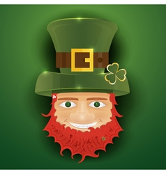 Portrait of Leprechaun vector image vector image
