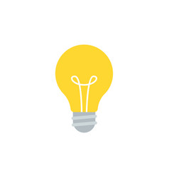simple flat light bulb isolated on white vector image vector image