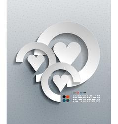 3d paper heart modern design vector image