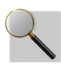 3d realistic magnifying glass vector image