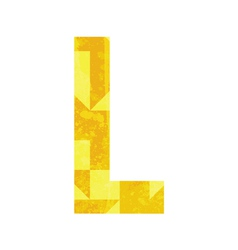 Abstract color alphabet L vector image