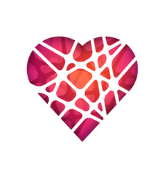 Abstract polygonal heart abstract modern vector
