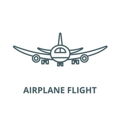airplane flight line icon airplane flight vector image