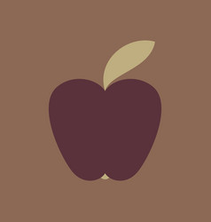 Apple icon in trendy flat style isolated on vector