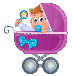Baby carriage theme image 3 vector