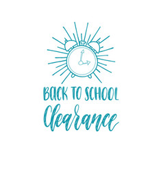 back to school clearance handwritten vector image