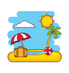 beach vacations image vector image