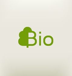 Bio logo eco label natural product sign organic vector
