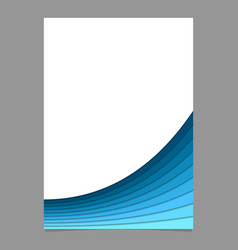 Blank page template from curved layers vector