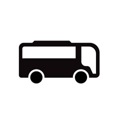 bus icon design template isolated vector image