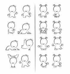cartoon babies vector image