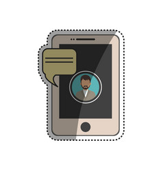 Chatting smartphone technology vector