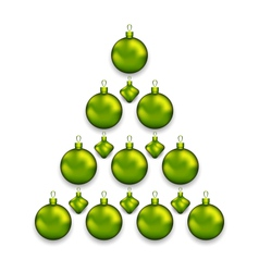 Christmas tree made of glass balls isolated on vector image