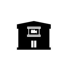 cinema building icon vector image