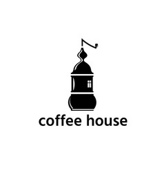 coffee grinder in a form house design template vector image