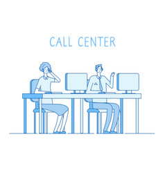 customer service concept helping support online vector image