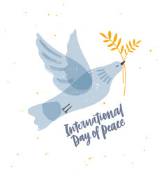cute gray translucent dove pigeon or bird flying vector image