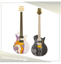 design guitar case fox vector image