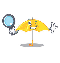 detective umbrella yellow in a shape cartoon vector image