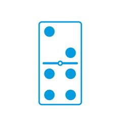 Domino piece symbol vector