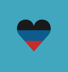 donetsk peoples republic flag icon in a heart vector image