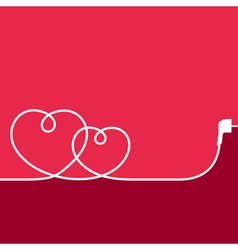 Electric Wire in the Shape of Hearts vector image