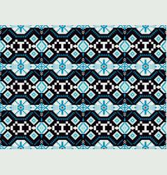 Ethnic geometric seamless pattern tribal print vector