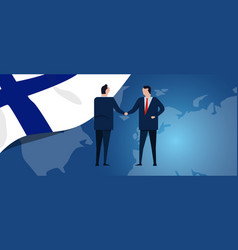 finland international partnership diplomacy vector image