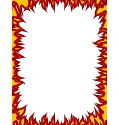 Fire frame flames on edges flame background vector