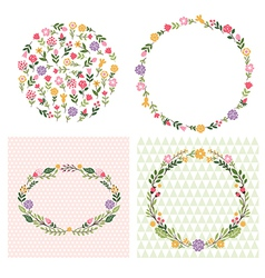 floral frames place for text vector image