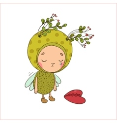 Forest Fairy and heart vector