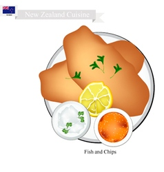 Fried Fish A Popular Dish of New Zealand vector image