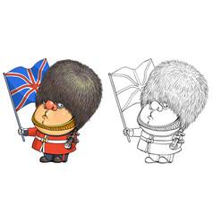 funny cartoon character briton vector image