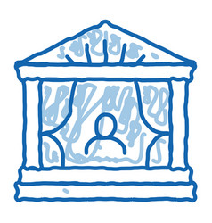 Greek ancient theater doodle icon hand drawn vector