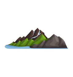 green mountain snow ice top outdoor design vector image