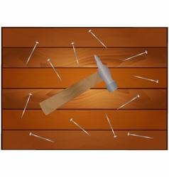 Hammer and nails vector