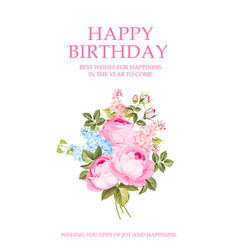 happy birthday invitation text card template vector image