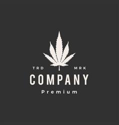hybird cannabis hipster vintage logo icon vector image